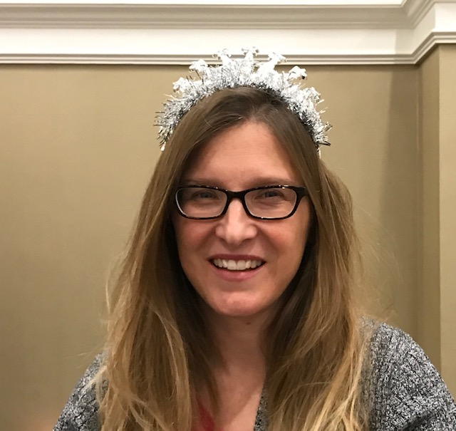 Publicist and fellow author Caitlin Hamilton Summie (tiaras are mandatory!)